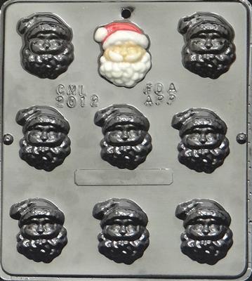 2012 Santa Claus Face Chocolate Candy Mold
